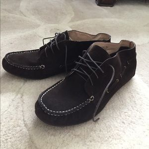 Eddie Bauer leather loafers. Ankle booties size 11